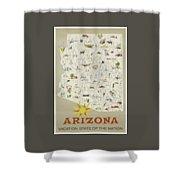 Vintage Travel Poster - Arizona Shower Curtain
