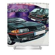 Volvo 480 Turbo Shower Curtain