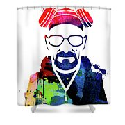 Walter Watercolor Shower Curtain