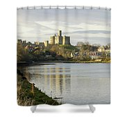 Warkworth Castle And River Aln Shower Curtain