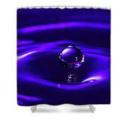 Water Drop Falling Into Water Shower Curtain