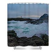 Waves Hitting The Rocks Shower Curtain