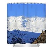 Wind Blows Over The Kenai Mountains Alaska Shower Curtain