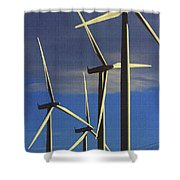Wind Power Art  Shower Curtain