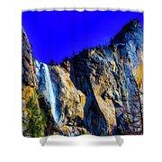 Winter Bridalveil Falls Shower Curtain