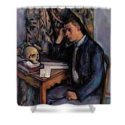 Young Man And Skull Shower Curtain
