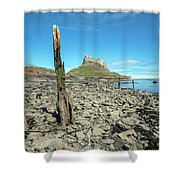 Holy Island Of Lindisfarne - England Shower Curtain