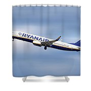 Ryanair Boeing 737-8as Shower Curtain