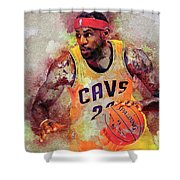 Lebron Raymone James Shower Curtain