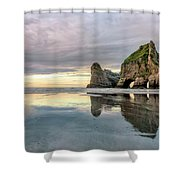 Wharariki Beach - New Zealand Shower Curtain