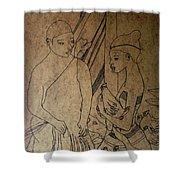 Kintu And Nambi Kintus Tasks  Shower Curtain