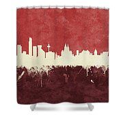 Liverpool England Skyline Shower Curtain