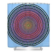 Vintage Multicolor Circle Shower Curtain