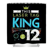 1873ab633d88 12 Year Old Laser Tag King Birthday Party 12th Birthday Tshirt by Noirty  Designs