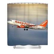 Easyjet Airbus A319-111 Shower Curtain