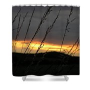 Photograph Of A Sunset Shower Curtain