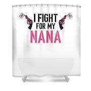 Breast Cancer Awareness Art For Warrior Women Light Shower Curtain