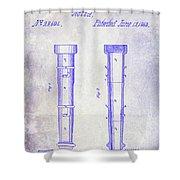 1860 Fire Hose Nozzle Patent Blueprint Shower Curtain