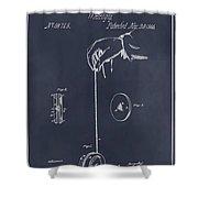 1866 Yo-yo Whirligig Blackboard Patent Print Shower Curtain