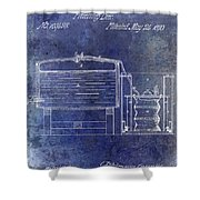 1870 Beer Preserving Patent Blue Shower Curtain