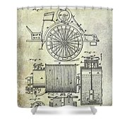 1873 Fire Extinguisgers Patent Shower Curtain