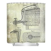 1881 Beer Faucet Patent Shower Curtain