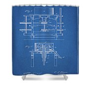 1885 Grist Mill Patent Shower Curtain