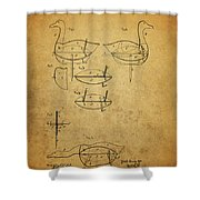 1885 Hunting Decoy Patent Shower Curtain