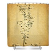 1885 Plow Patent Shower Curtain