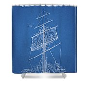 1885 Sails Patent Shower Curtain