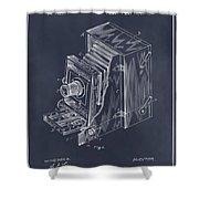 1887 Blair Photographic Camera Blackboard Patent Print Shower Curtain