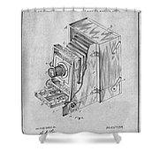 1887 Blair Photographic Camera Gray Patent Print Shower Curtain
