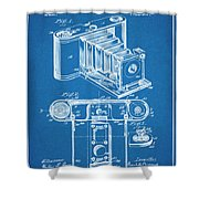 1899 Photographic Camera Patent Print Blueprint Shower Curtain