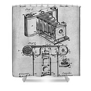 1899 Photographic Camera Patent Print Gray Shower Curtain