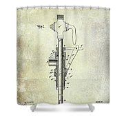 1902 Beer Patent Shower Curtain
