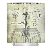 1902 Beer Tapping Device Patent Shower Curtain