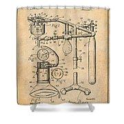 1919 Anesthetic Machine Antique Paper Patent Print Shower Curtain