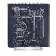 1919 Anesthetic Machine Blackboard Patent Print Shower Curtain