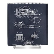 1919 Motor Driven Hair Clipper Blackboard Patent Print Shower Curtain