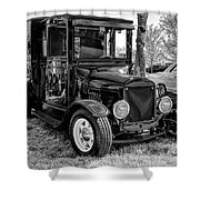 1925 Ford Model T Delivery Truck Hot Rod Shower Curtain