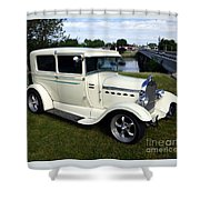 1929 Ford Model A Coupe Shower Curtain by Charles Robinson