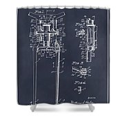1929 Harley Davidson Front Fork Blackboard Patent Print Shower Curtain