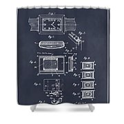 1930 Leon Hatot Self Winding Watch Patent Print Blackboard Shower Curtain
