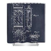 1931 Self Winding Watch Patent Print Blackboard Shower Curtain