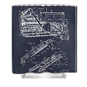 1932 Earth Moving Bulldozer Blackboard Patent Print Shower Curtain