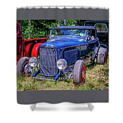 1932 Ford Highboy Hot Rod Roadster Shower Curtain