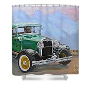 1932 Ford Model A  Shower Curtain
