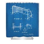 1933 Soccer Goal Blueprint Patent Print Shower Curtain