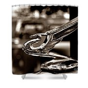 1934 Chevrolet Flying Eagle Hood Ornament Retro Shower Curtain