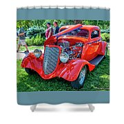 1934 Ford 3 Window Coupe Hot Rod Shower Curtain